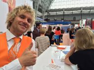 Talking about the Orange Twist at The Meetings Show UK 2016